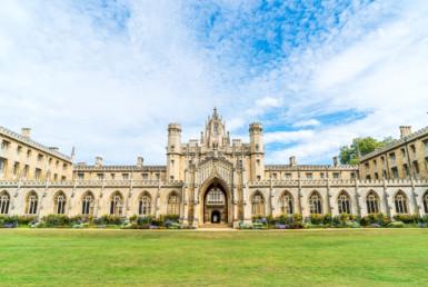 美丽的建筑圣约翰学院在英国剑桥。